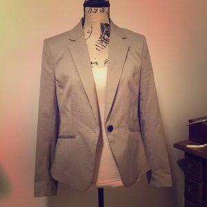 H&M brown plaid blazer sz 14 like new lined